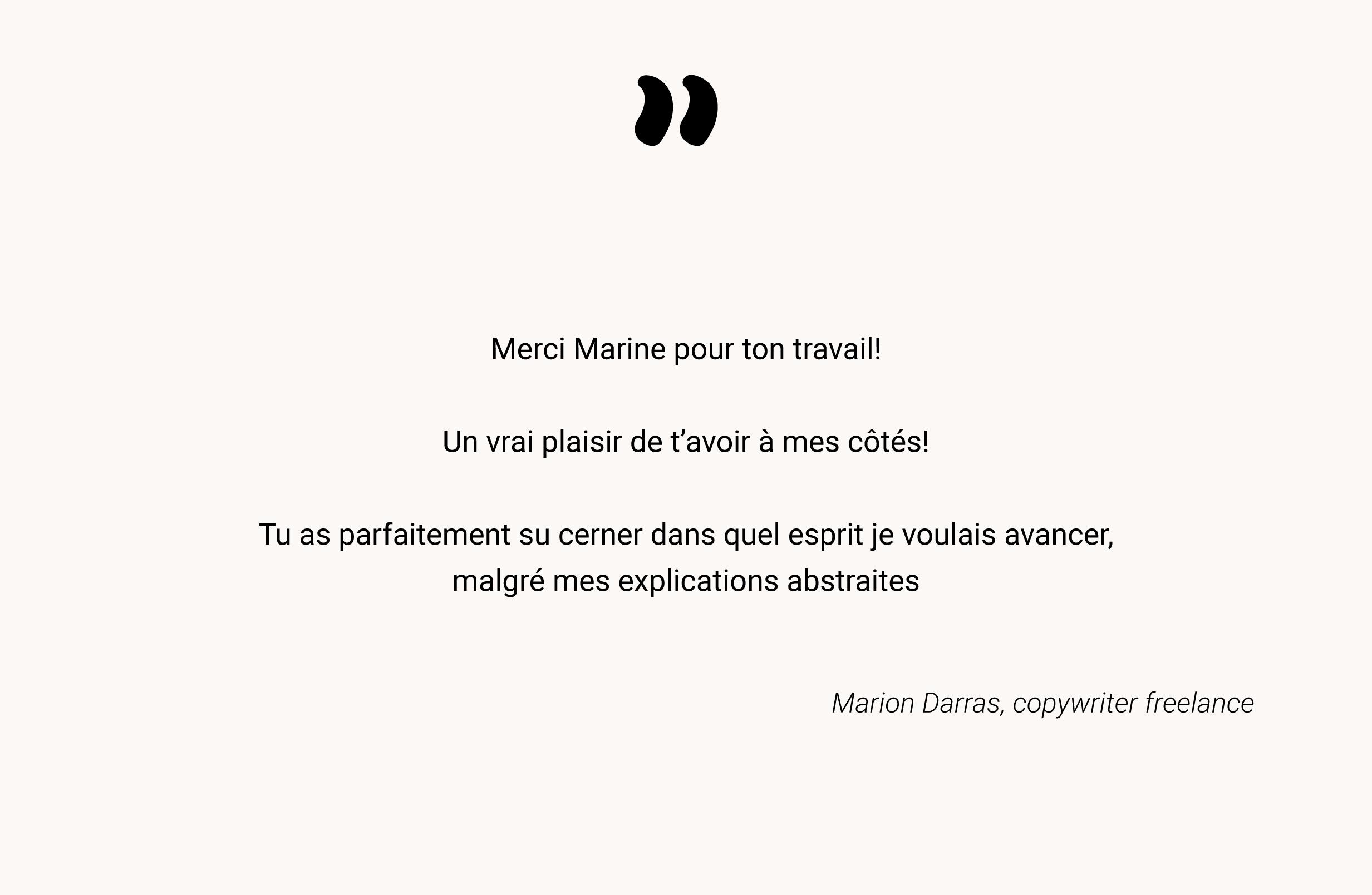 Témoignage de Marion Darras