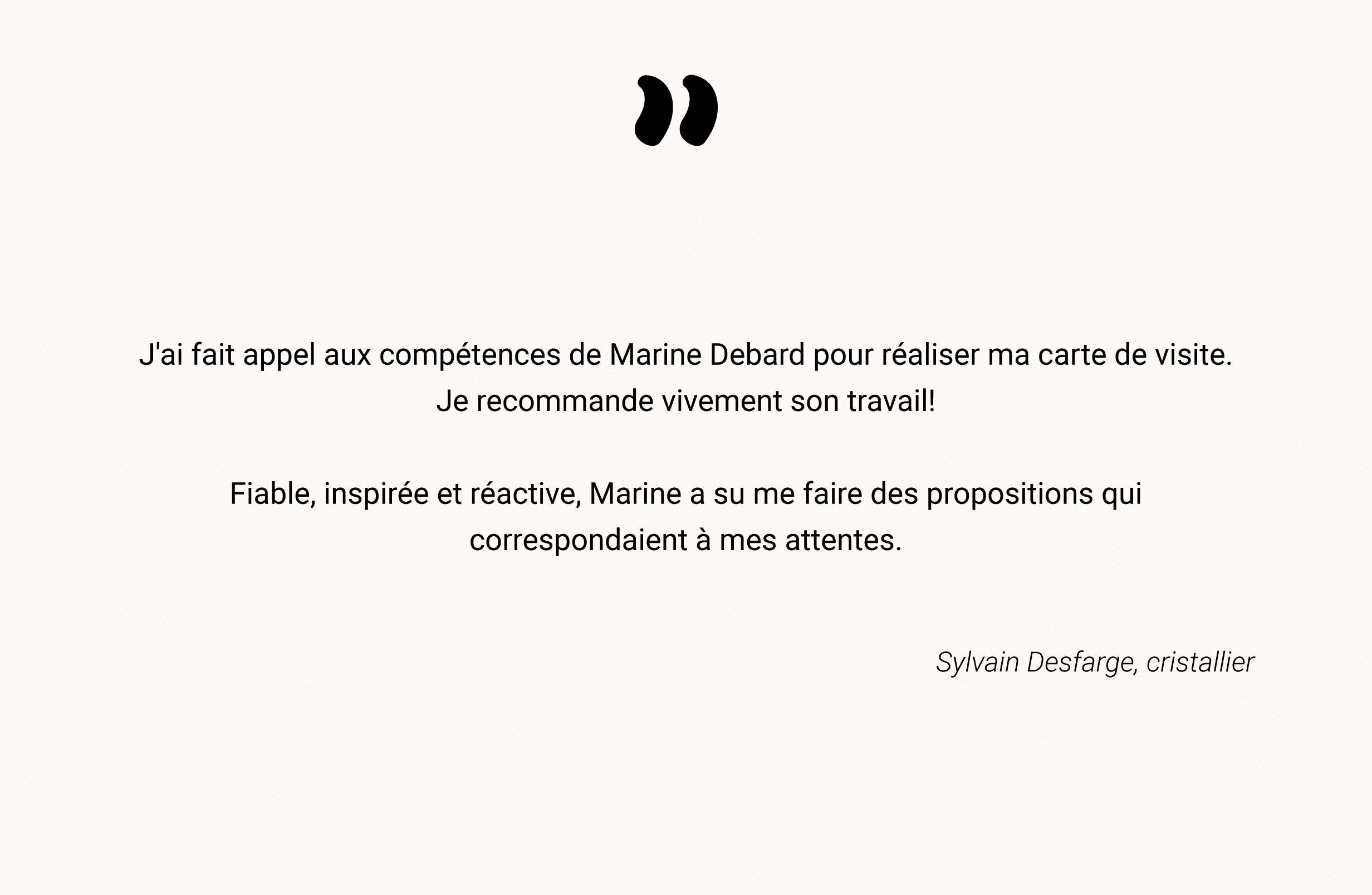 Témoignage de Sylvain Desfarge